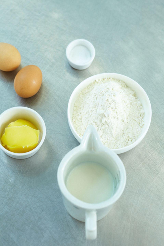 Man braucht nicht viele Zutaten für den perfekten Pfannkuchenteig