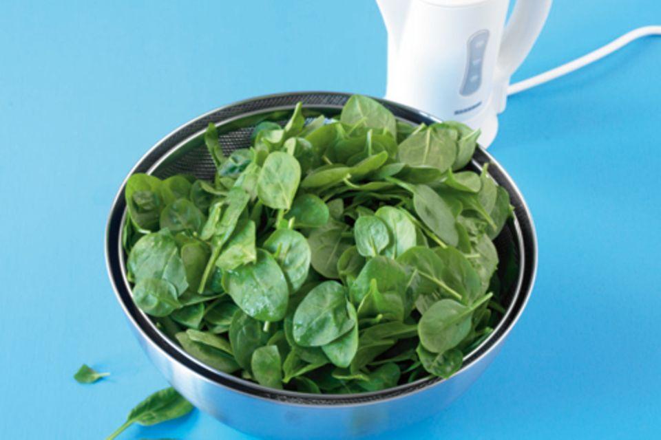 Wie macht man eigentlich... Spinat bissfest