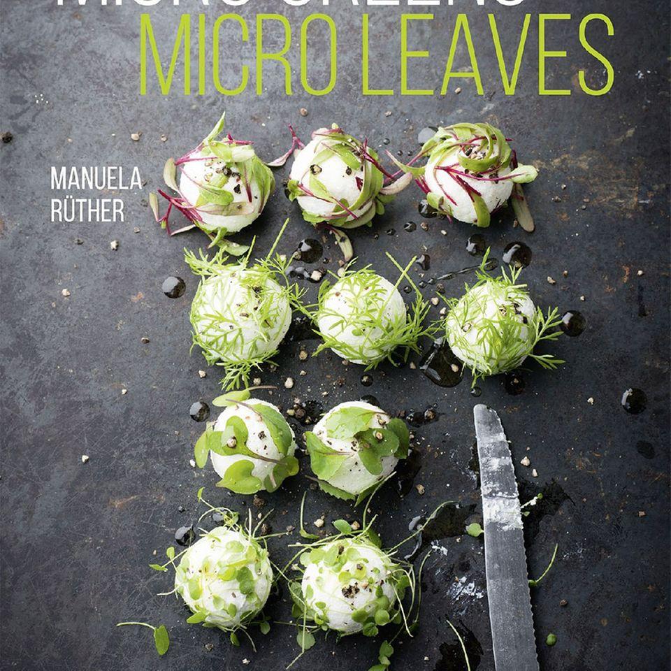 Cover des Buches mit einem der Rezepte: Ziegenkäsebällchen in Leaves.