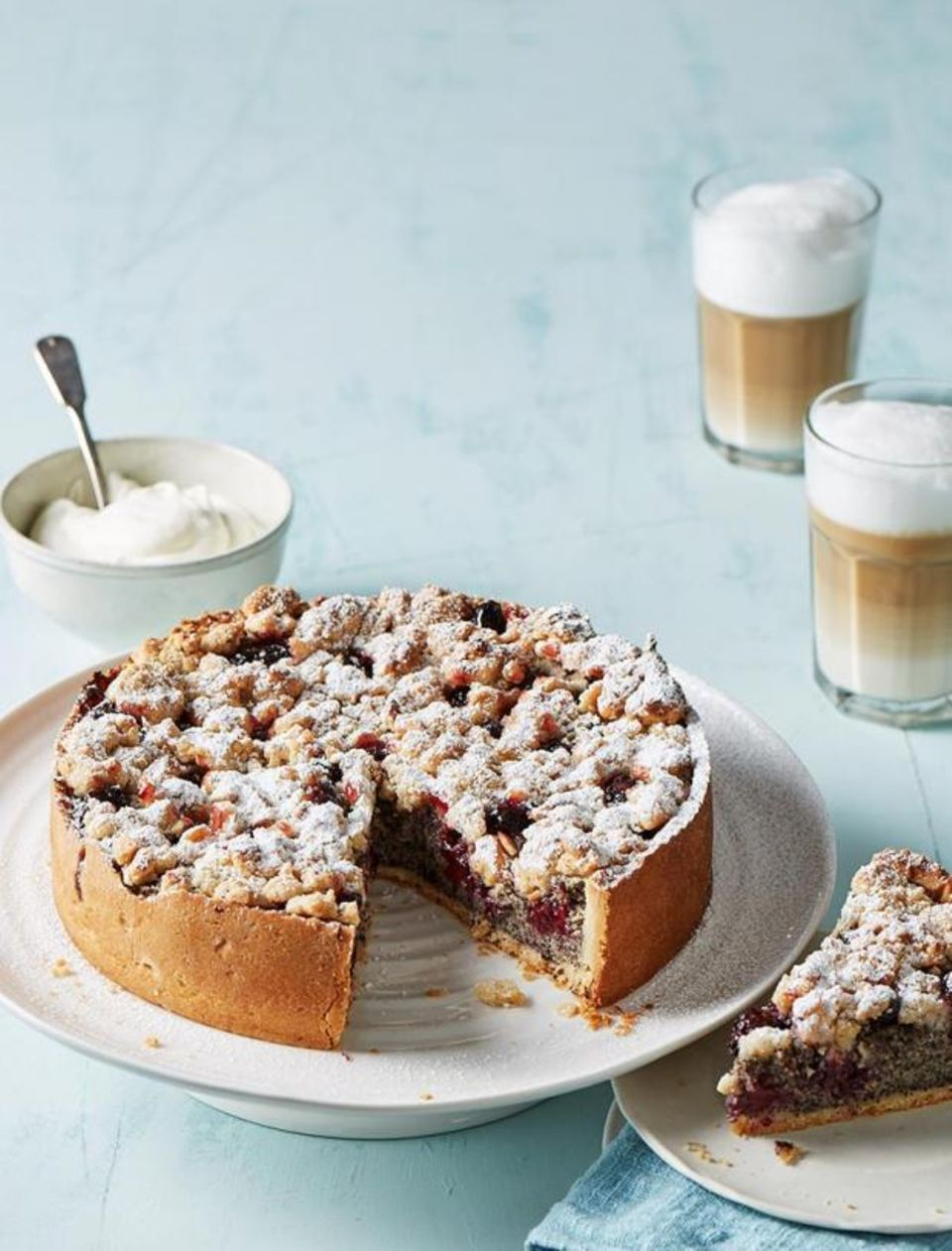 Mohn-Brombeer-Kuchen