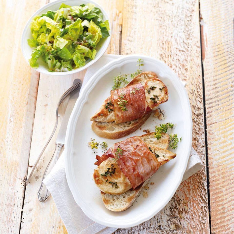 Hähnchen-Cordon-bleu mit Konfitüre