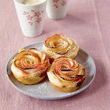 Die kleinen Blätterteig-Tartelettes sehen nicht nur toll aus, sie schmecken auch so!