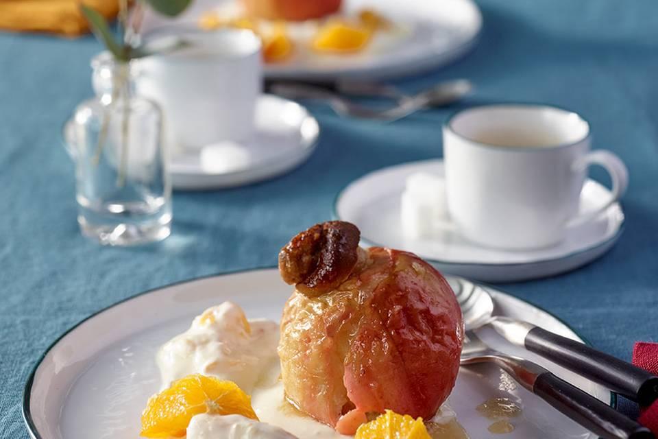 Bratäpfel mit Orangenjoghurt Rezept