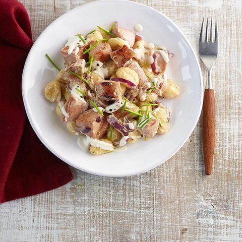 Gnocchi-Fleischwurst-Pfanne