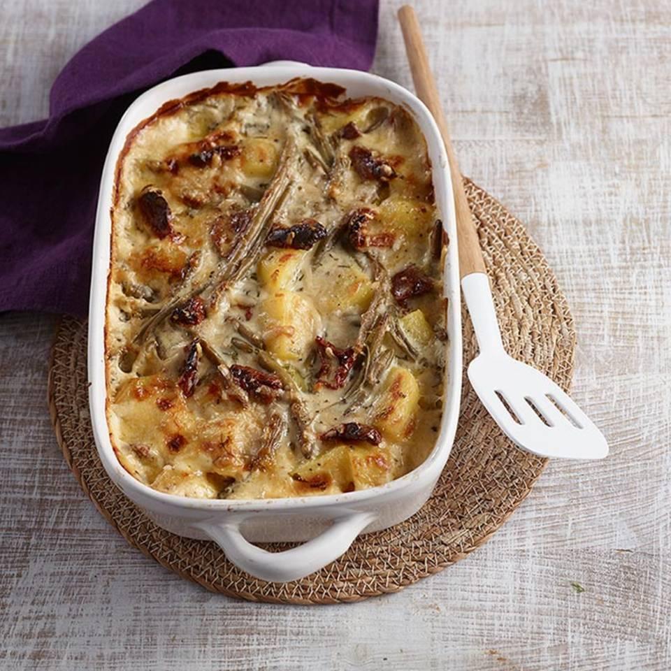 Kartoffel-Bohnen-Auflauf  Rezept