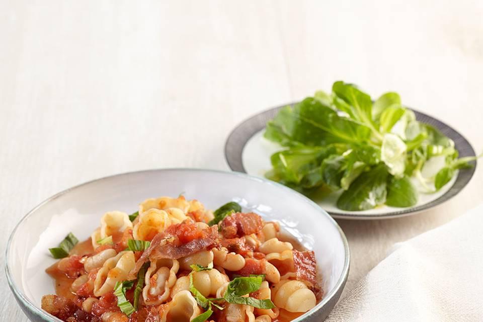 Tomaten-Bohnen-Pasta  Rezept