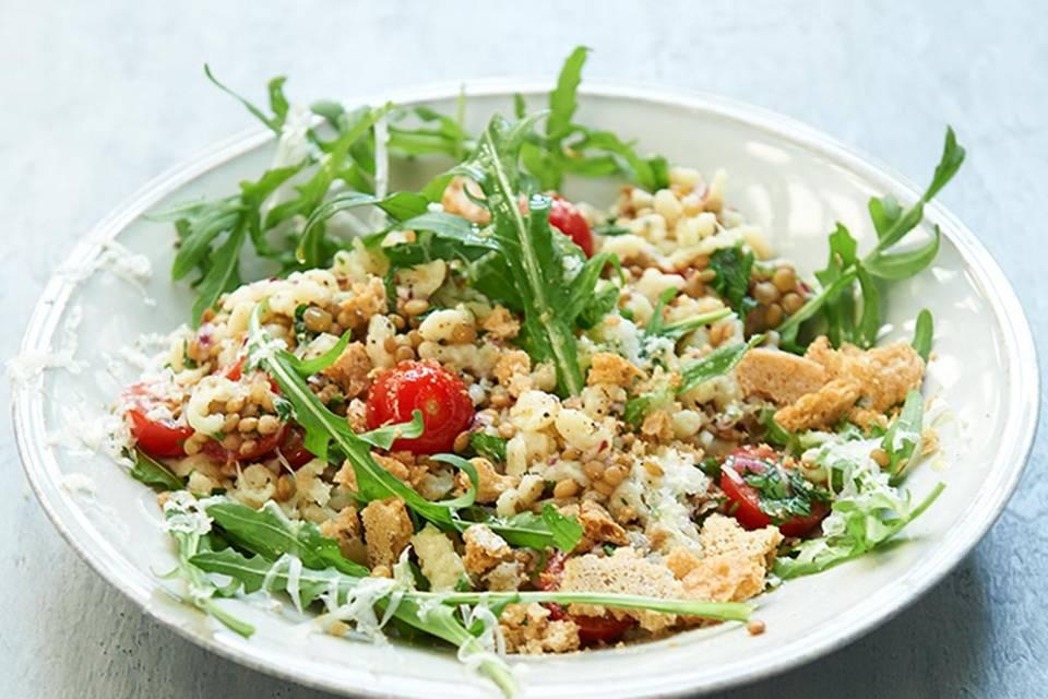 Linsen-Spätzle-Salat  Rezept