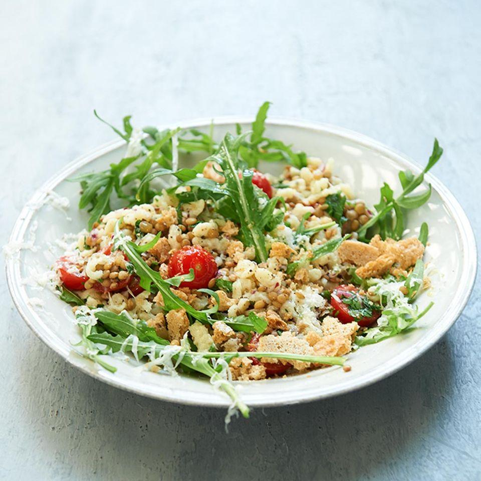 Linsen-Spätzle-Salat