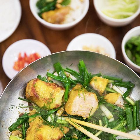 Cha cá (Frittierter Fisch mit Dill)