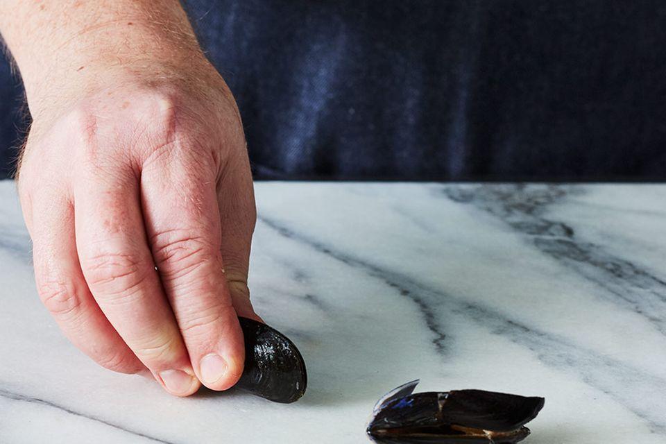 Skrei auf Bohnenpüree mit Miesmuschel-Paprika-Sauce