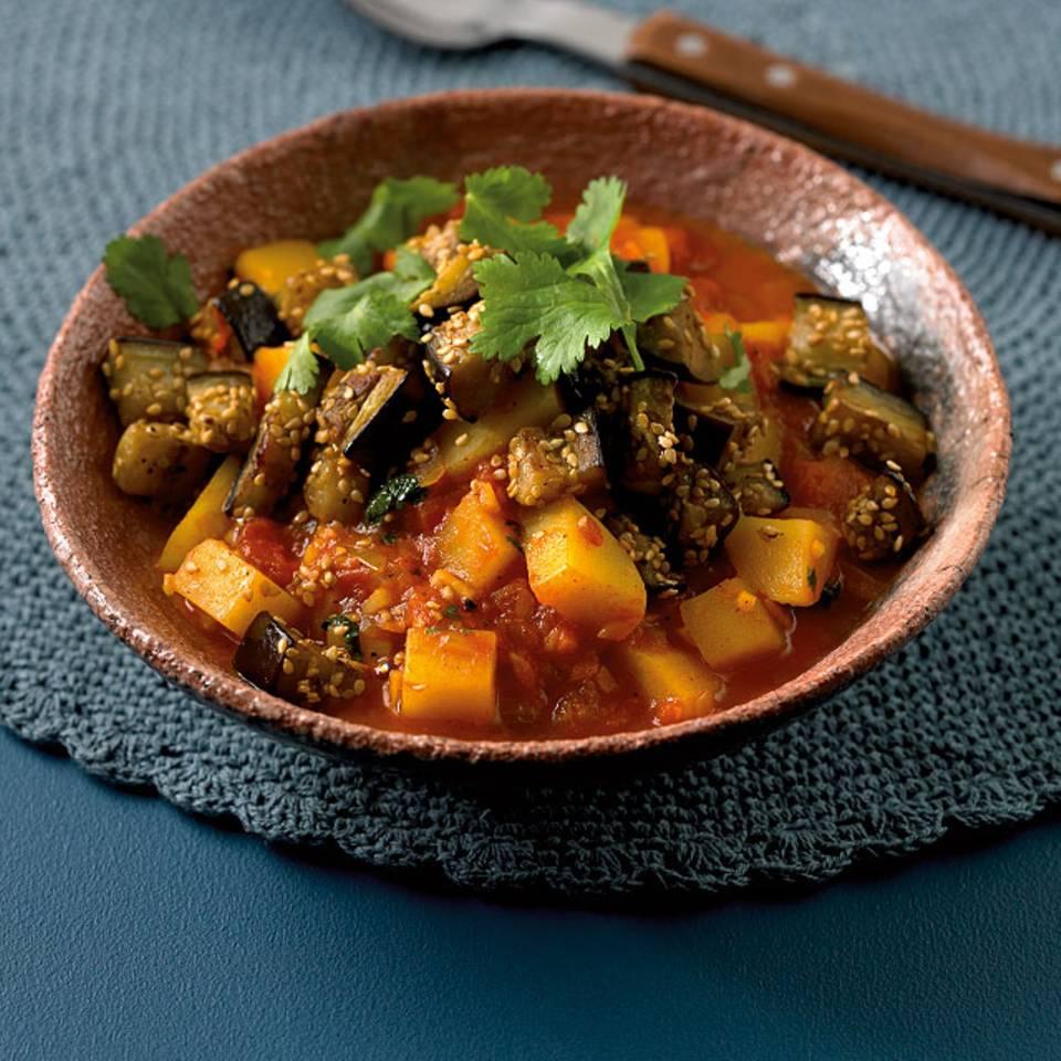 Auberginen-Kartoffel-Curry Rezept