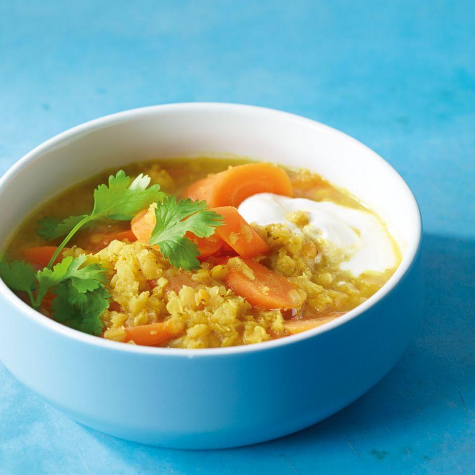 Linsen-Curry-Eintopf