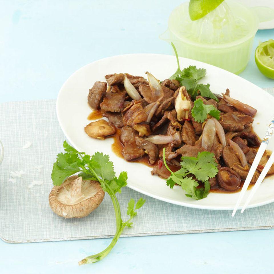 Chili-Limetten-Rindfleisch