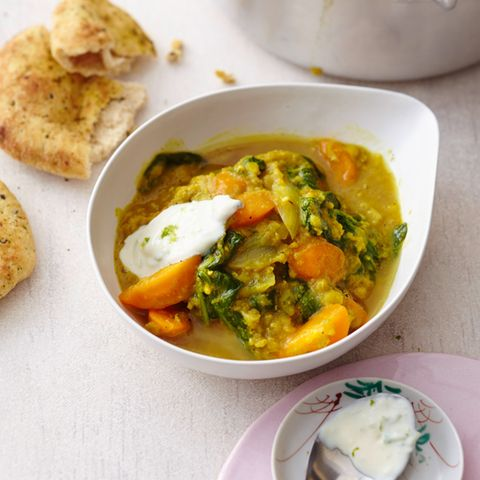 Linsen-Spinat-Curry