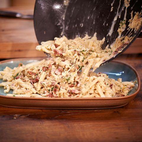 Nudeln mit Sauerkrautrahm