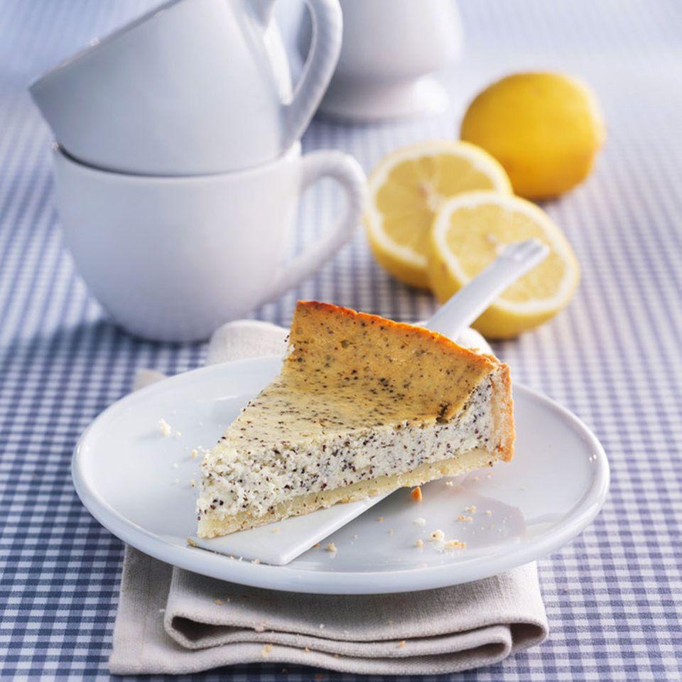 Mohn-Zitronen-Cheesecake