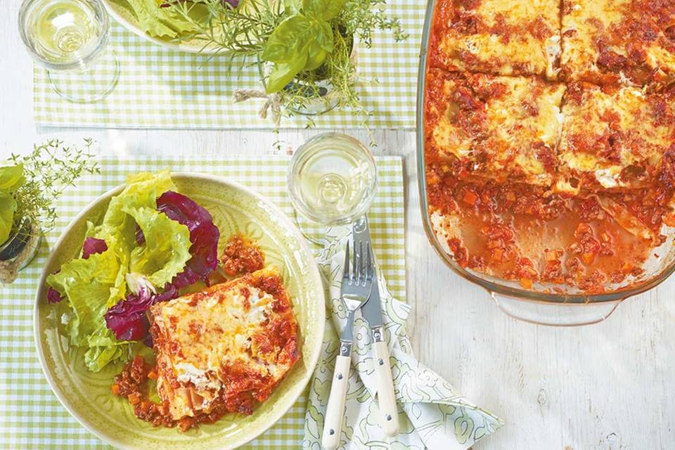 Lasagne mit Blattsalat Rezept