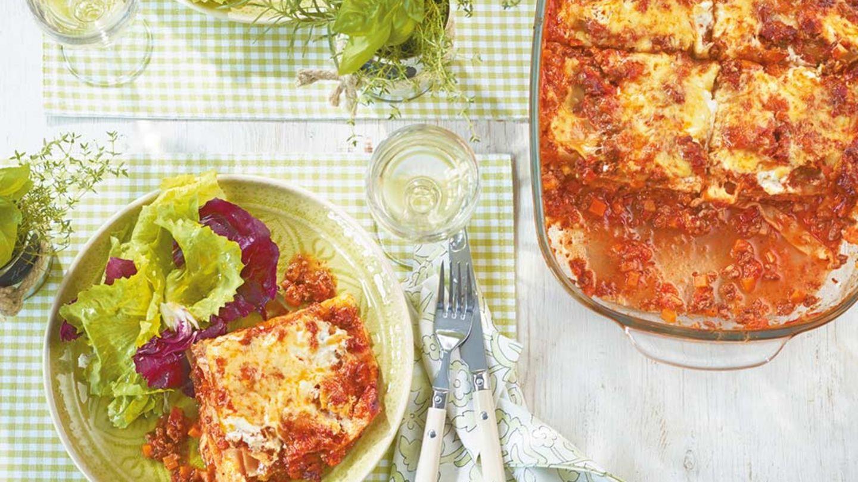 lasagne mit blattsalat rezept essen und trinken