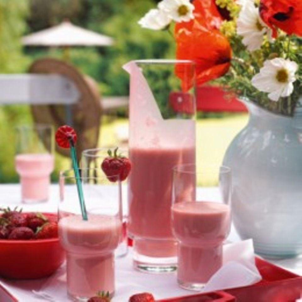 Rezepte: Smoothies mit Erdbeeren