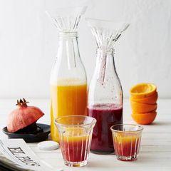 Orangen-Granatapfel-Saft