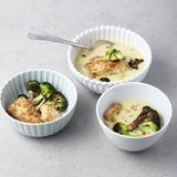Lauch-Kokossuppe mit Tofu
