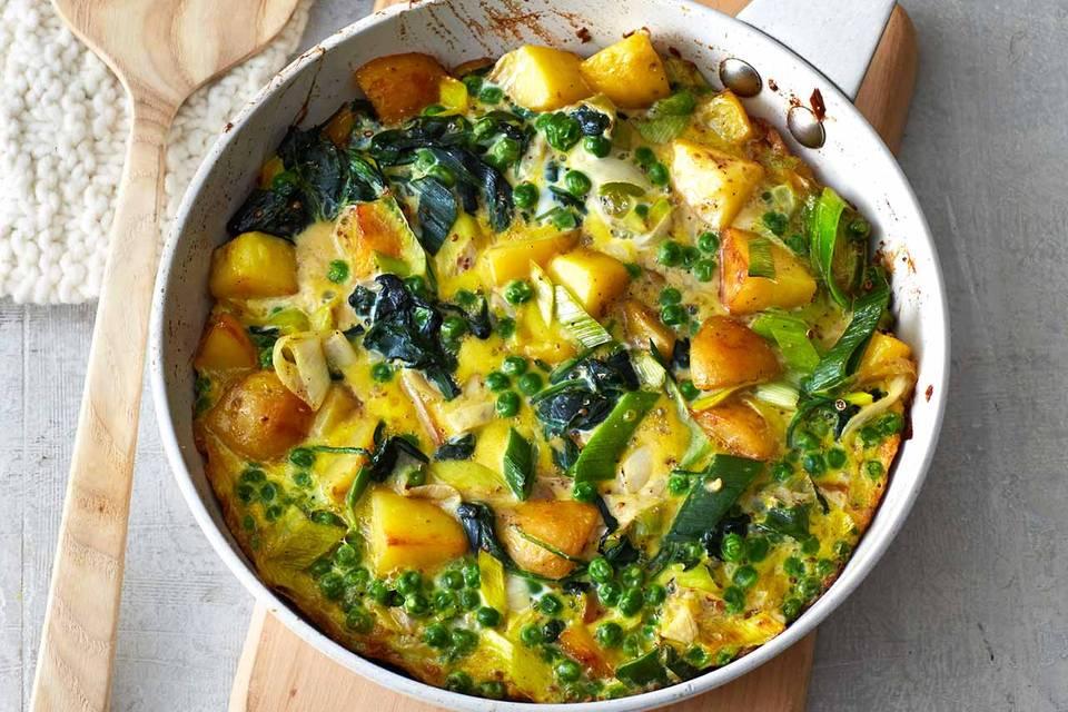 Gemüse-Kartoffel-Tortilla mit Möhren Rezept