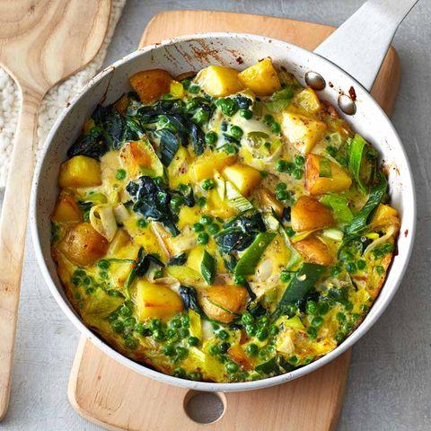 Gemüse-Kartoffel-Tortilla mit Möhren