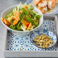 Garnelen mit Papaya-Salat