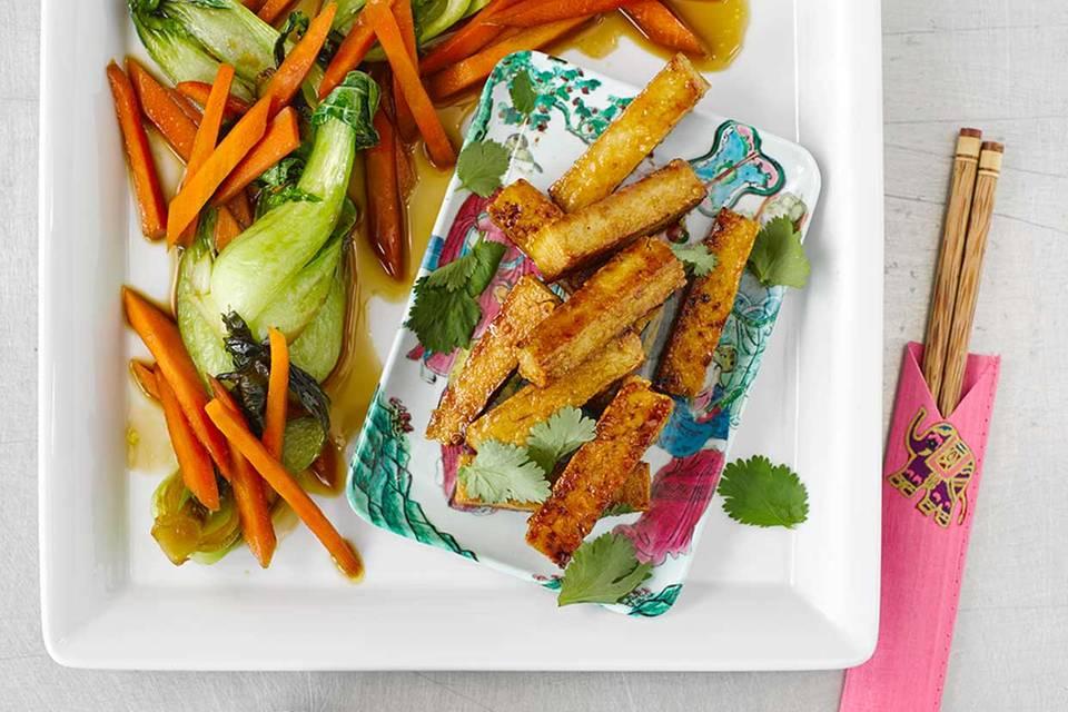 Tofu-Sticks mit Pak Choi Rezept
