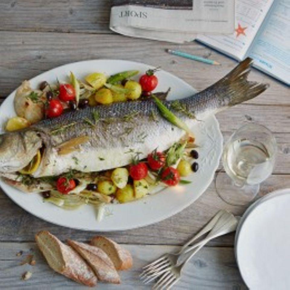 Rosmarin mit Fisch