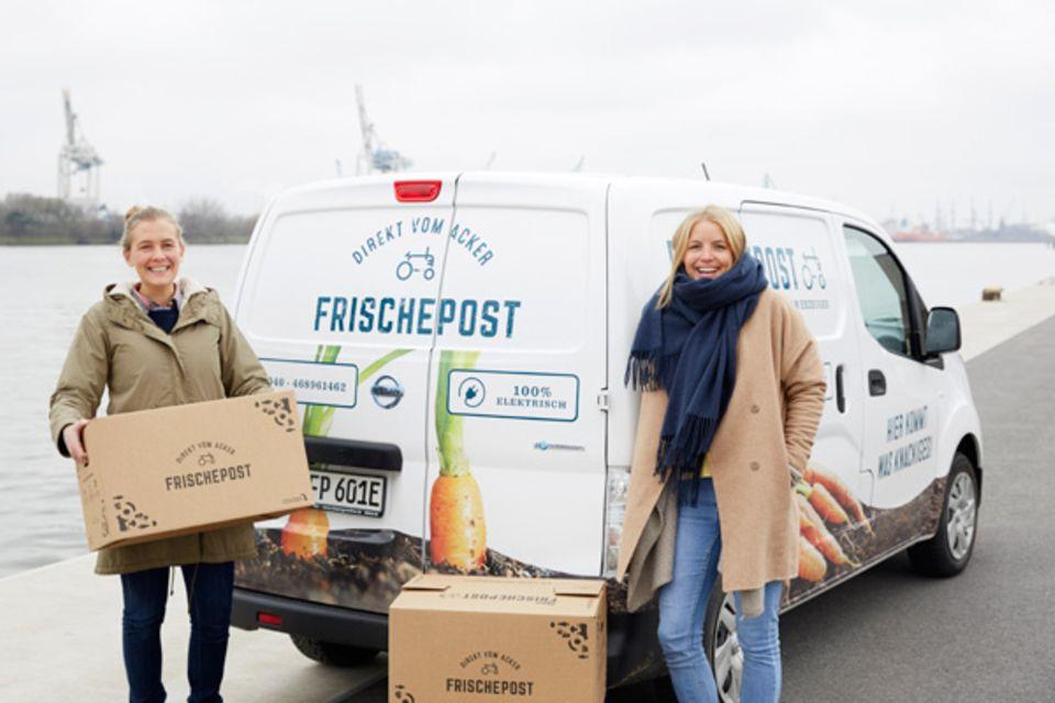 Frischepost Gründerinnen Eva Neugebauer und Juliane Eichblatt