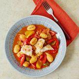 Paprika-Gnocchi mit Kabeljau