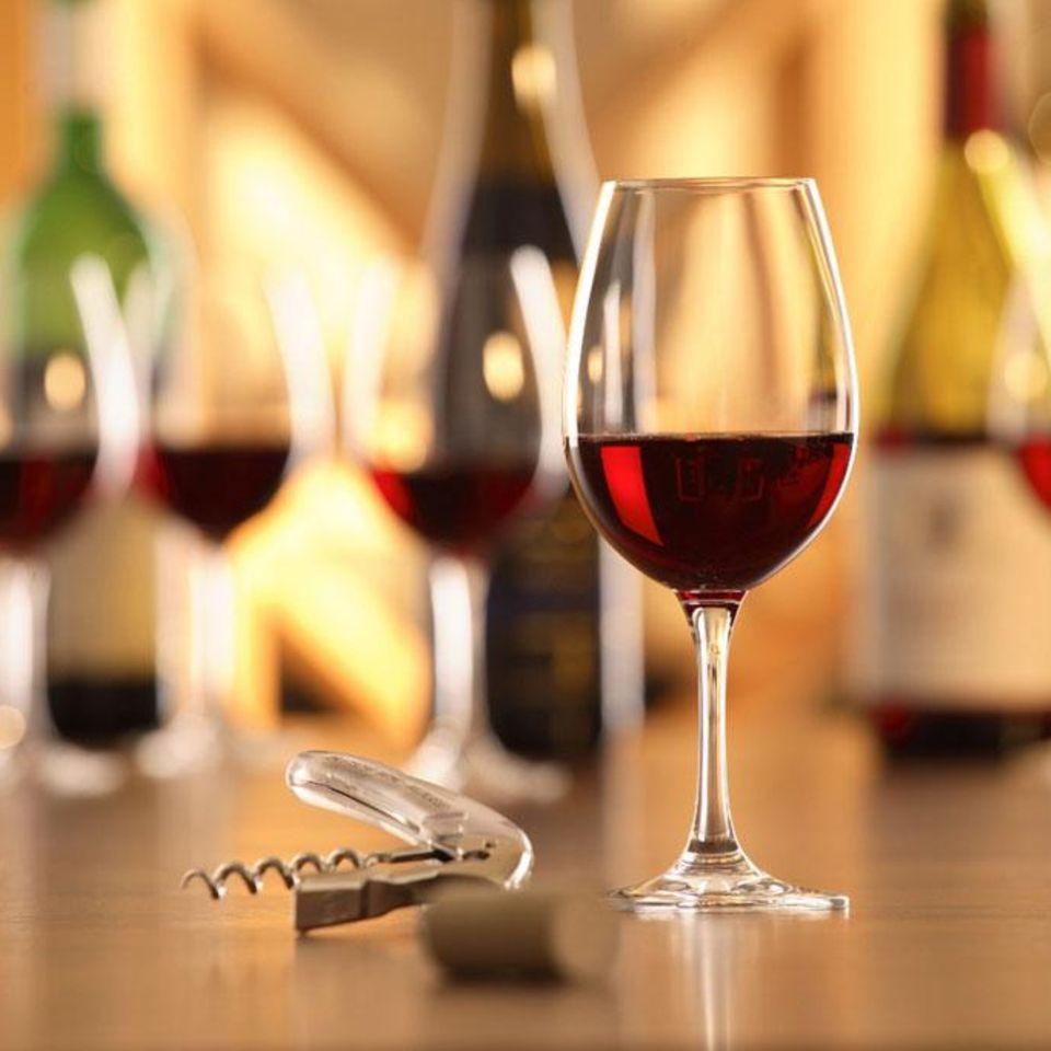 Rotwein genießen
