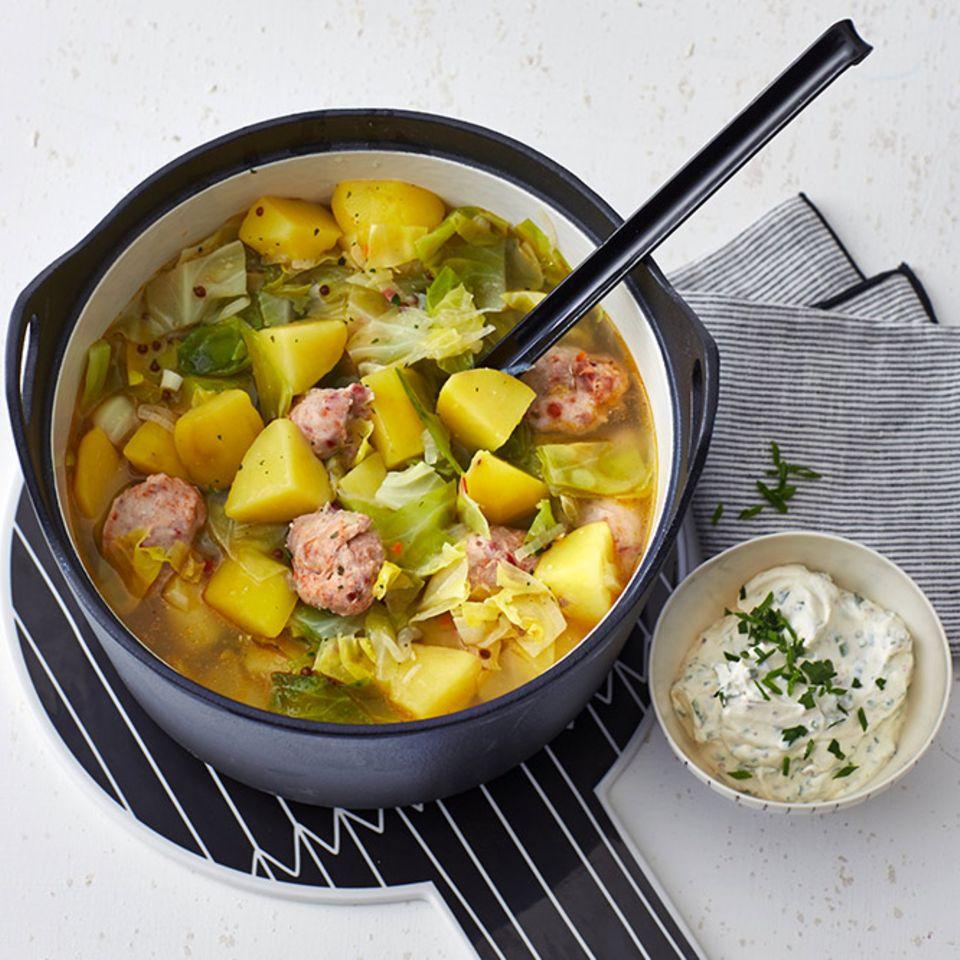Kartoffel-Spitzkohl-Eintopf