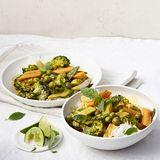 Thai-Gemüse-Curry mit Koriander-Chili-Pesto