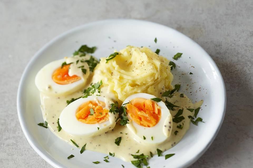 Eier in Senfsauce Rezept