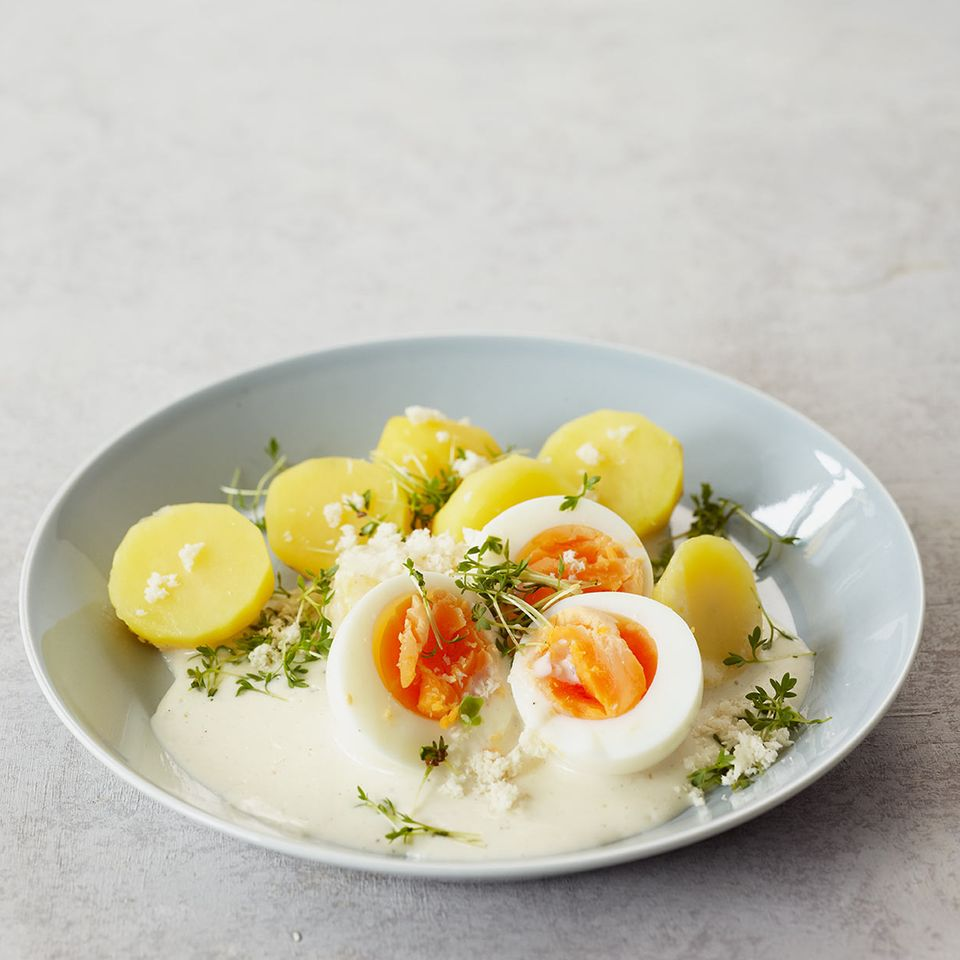 Eier in Meerrettichsauce