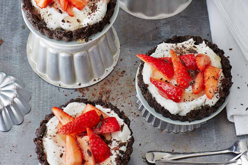 Erdbeer-Schoko-Törtchen Rezept