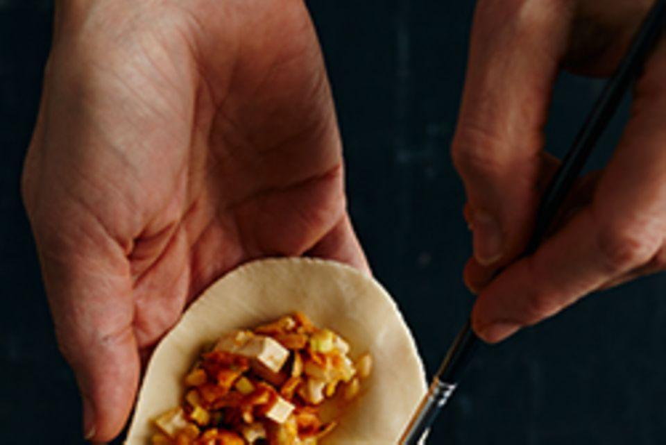 Kimchi Mandu - Schritt 3