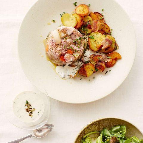 Sauerfleisch mit Eisbein und Senfkörnern