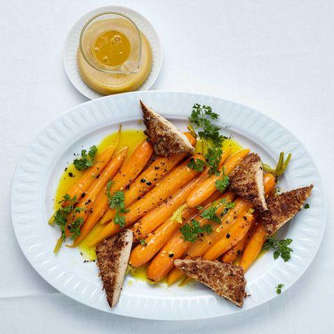 Maracuja-Curry-Möhren mit Tofu