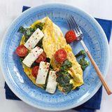 Spinat-Omelette mit Feta