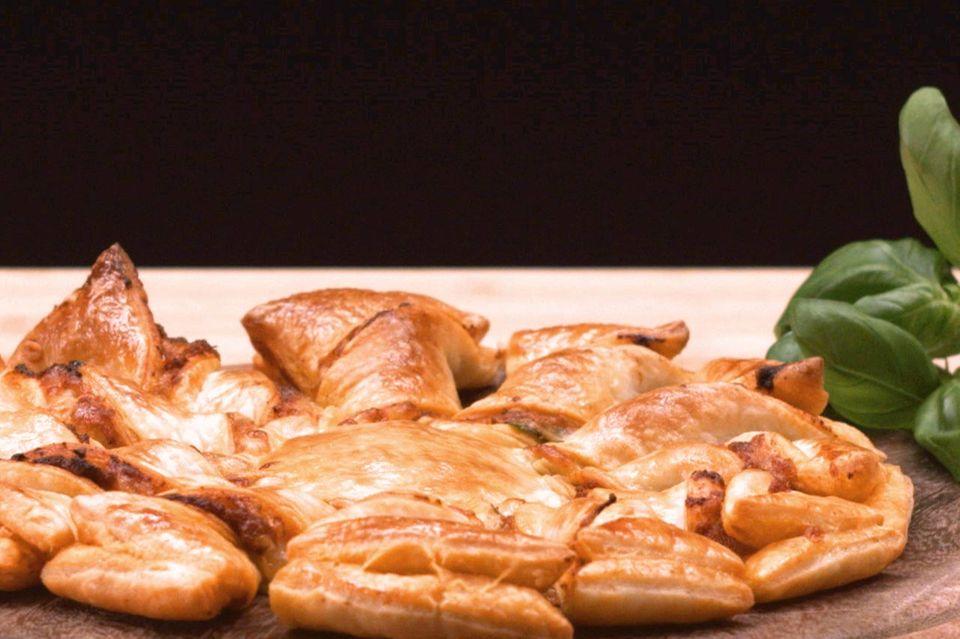 Blätterteig Pizzasonne