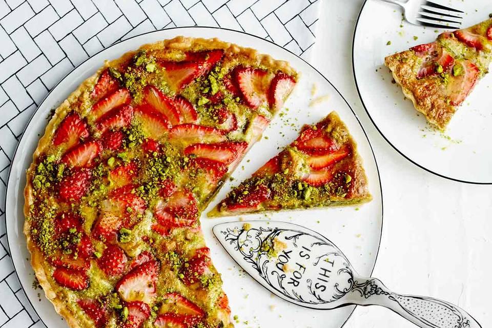 Pistaziencreme-Tarte mit Erdbeeren Rezept