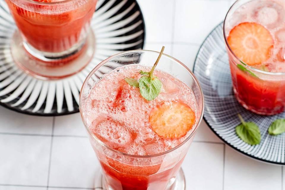 Erdbeer-Fizz Rezept