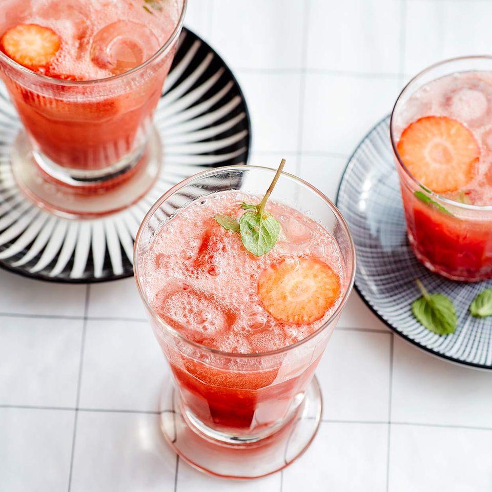 Erdbeer-Fizz