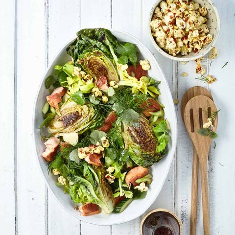 Gebratener Römersalat mit Sumach-Saibling