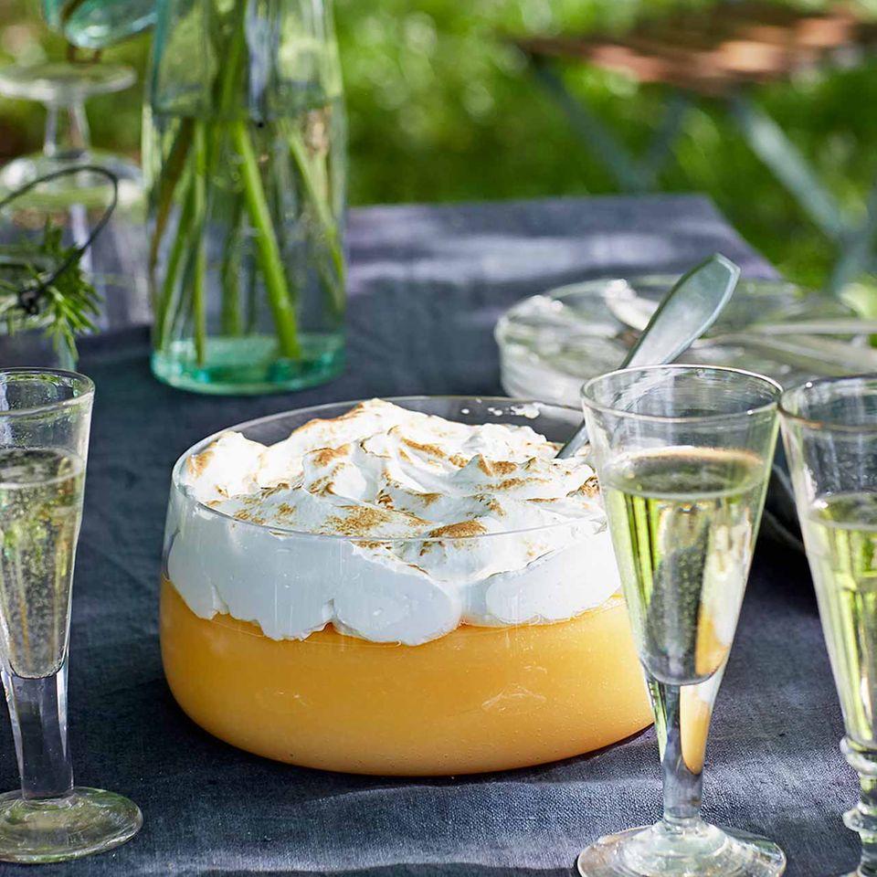Zitronencreme mit Meringue-Haube