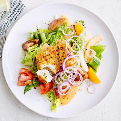 Knusper-Feta mit Salat