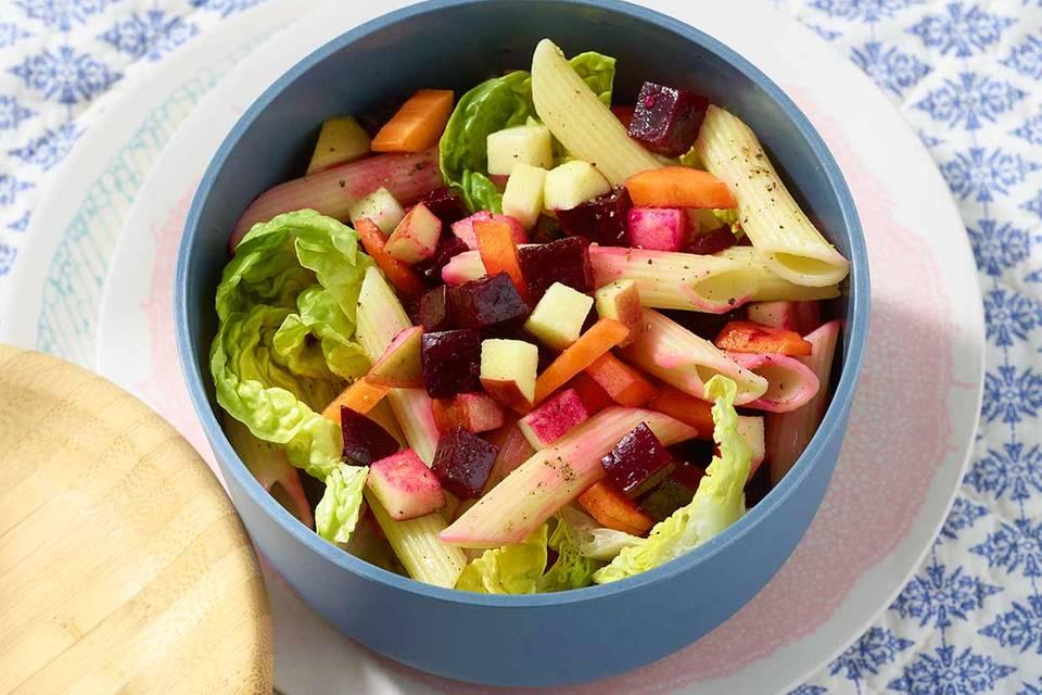 Bunter Nudelsalat mit Gemüse Rezept